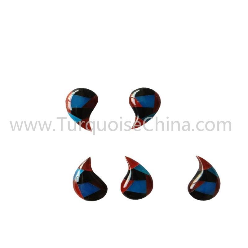 Newest Mosaic Earrings Gemstone/Fashion Splicing Earrings Jewelry