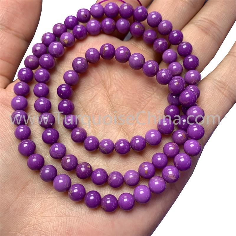 Hot-sale Phosphosiderite round beads gemstone bracelet wholesale
