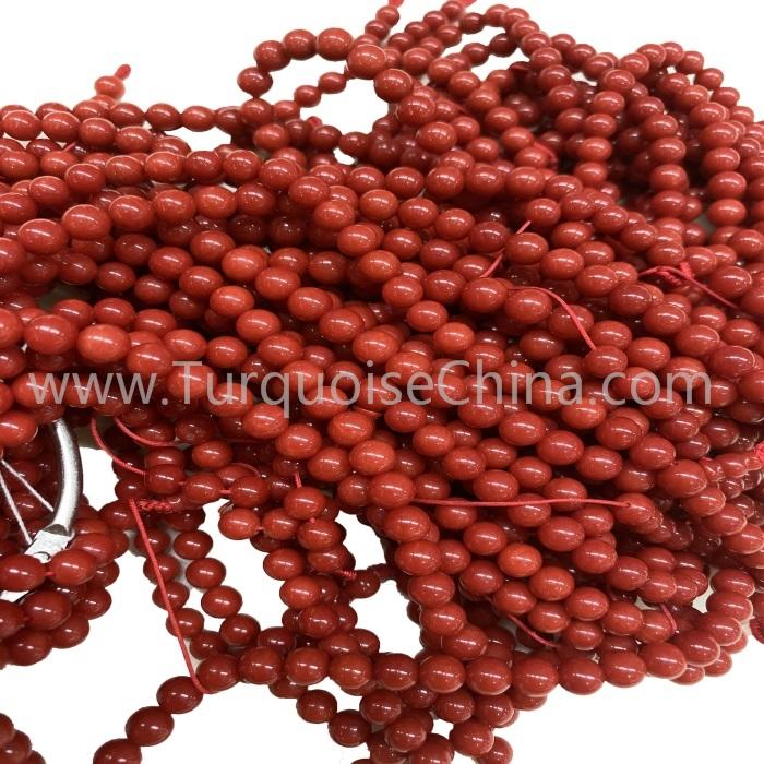 Hot-sale Red Coral Round Gemstone Beads Strings