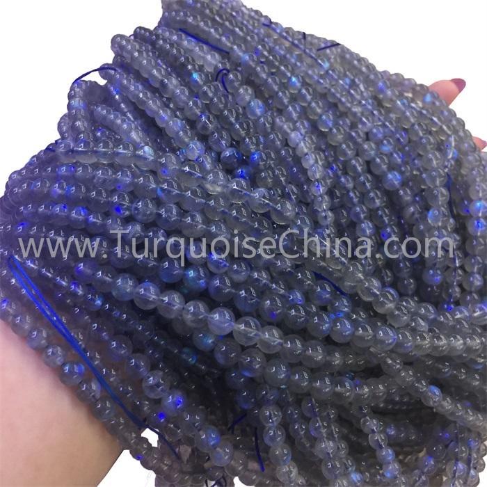 Hot-sale Grey Labradorite Gemstone Round Beads Strings