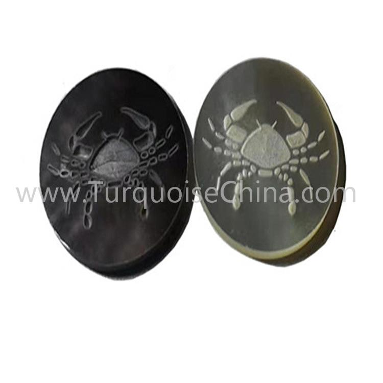 Beautiful Constellation And Zodiac Sign MOP Carved Gemstone Cabochon For Jewelry