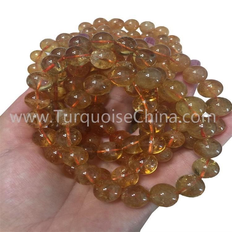 Natural Golden Rutilated Quartz Round Beads Real Gemstone Bracelets