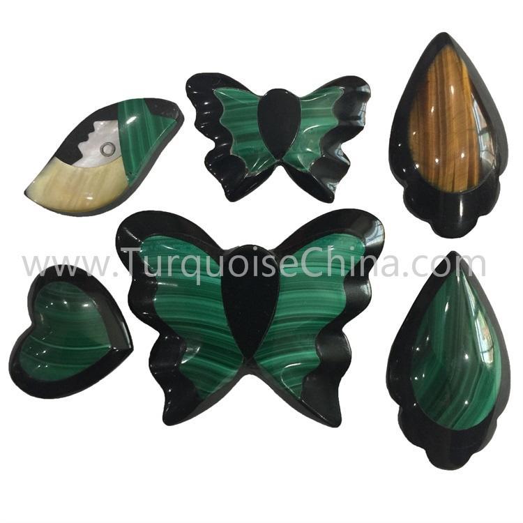 Hot-sale Mosaic Jasper Mixed Gemstone Cabochon For Jewelry