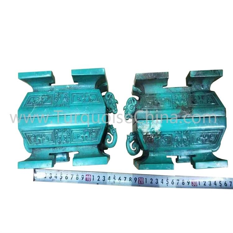 Classical Green Howlite Quadripod Ornaments for Decoration