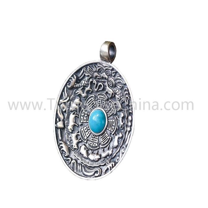 Genuine Turquoise pendant gemstone for jewelry making