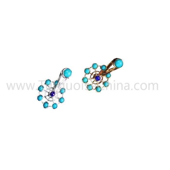 Ferris Wheel Pendant Genuine Turquoise Gemstone Jewelry