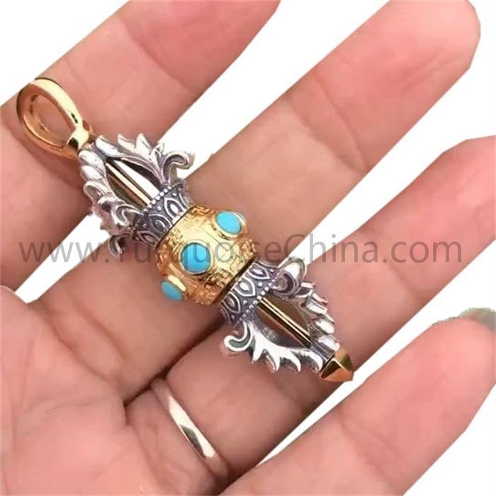 Retro Tibetan Buddhism Vajry Pestle Small Ornaments Key Chains Pendants Home Decorations Auspicious Craft