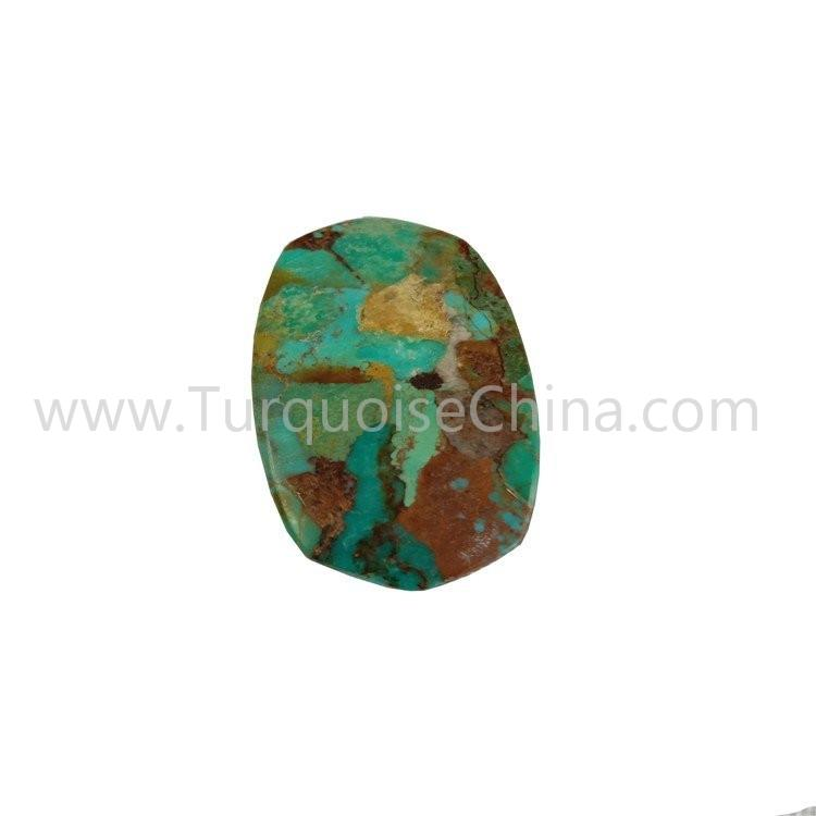 Green-blue Turquoise Oval Shape Cabochon For Making Pendant Dangler Jewelry