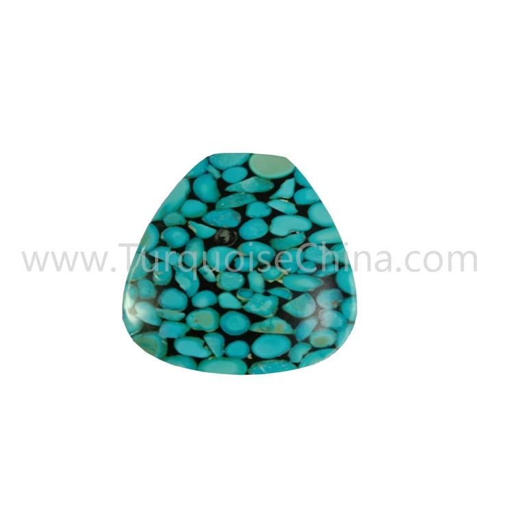 Blue And Black Turquoise Pear Shape Cabochon For Making Pendant