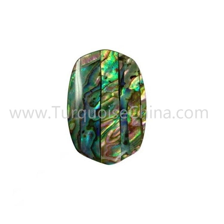 Natural Shiny Abalone Shell Oval Shape Cabochon For Making Pendant