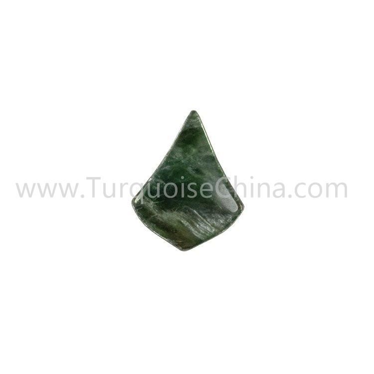 Green Euchlorite Kite-shape Cabochon For Making Pendent Dangler Jewelry