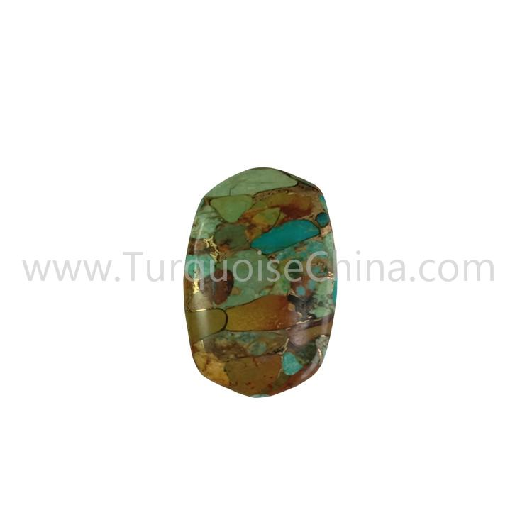 Green And Brown Turquoise Oval Cabochon For Making Jewelry