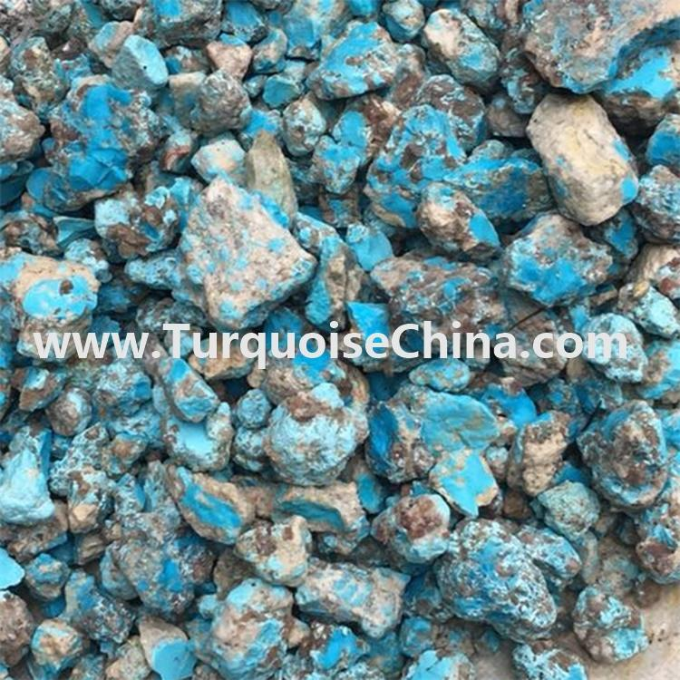 Top blue turquoise raw rough and blue green turquoise