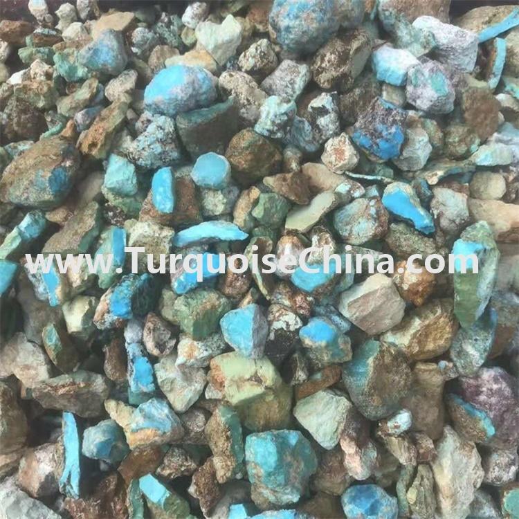 After stablish treatment turquoise gemstone
