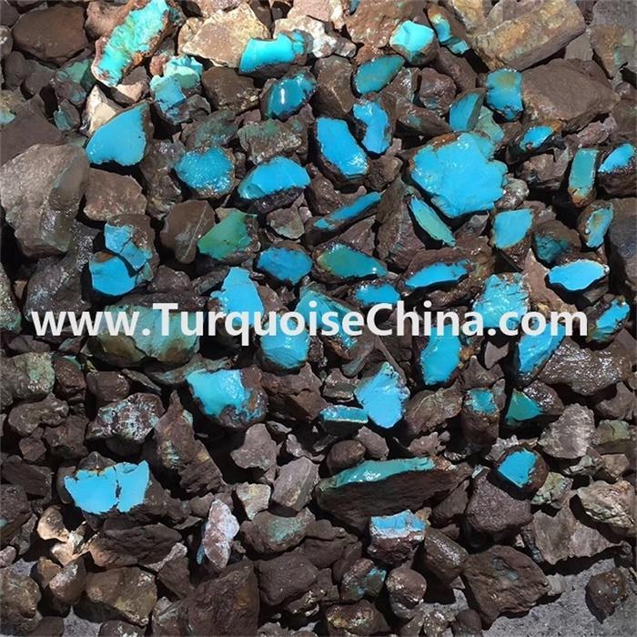 China wholesale Original top blue turquoise rough material stones