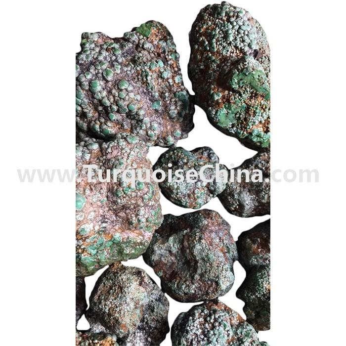 Bulk Wholesale Natural HuBei spider-web Raw Green Turquoise Stone Rough for Jewelry Making