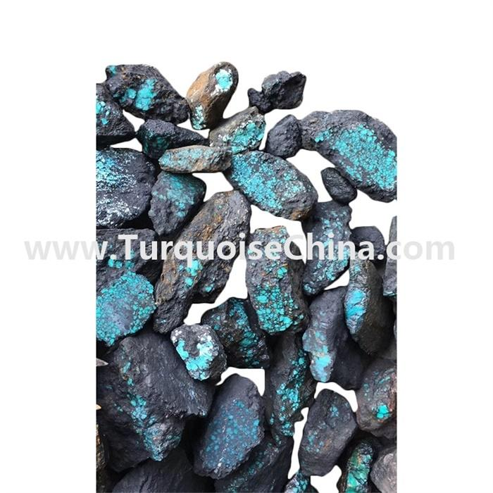 Natural spiderweb  blue-greenish color turquoise stone rough stone wholesale