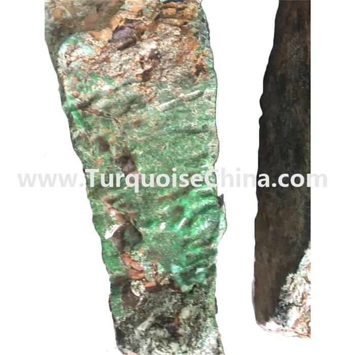 Largest pieces naturally green color turquoise raw material for jewelry carved making