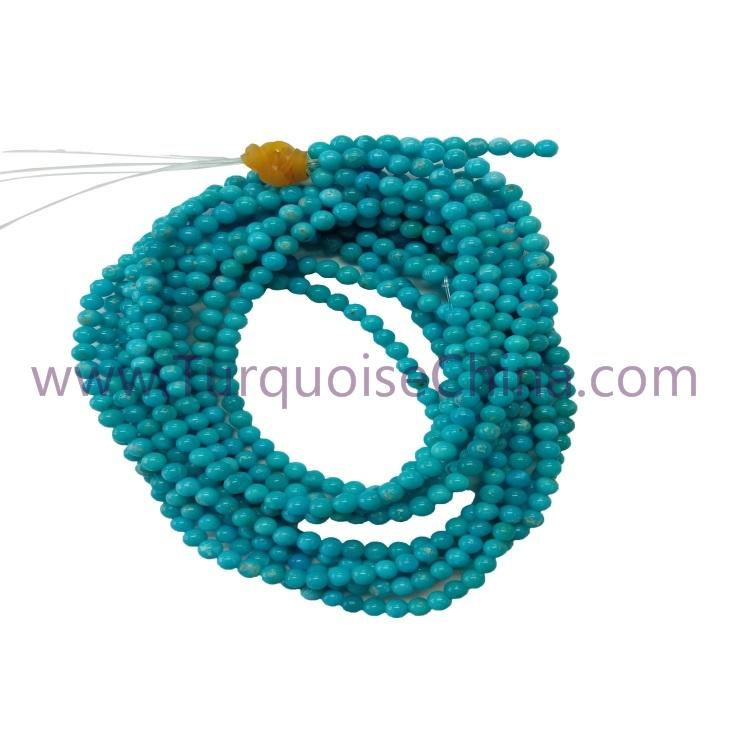 Genuine Turquoise 3mm Round Beads Gemstone Wholesale