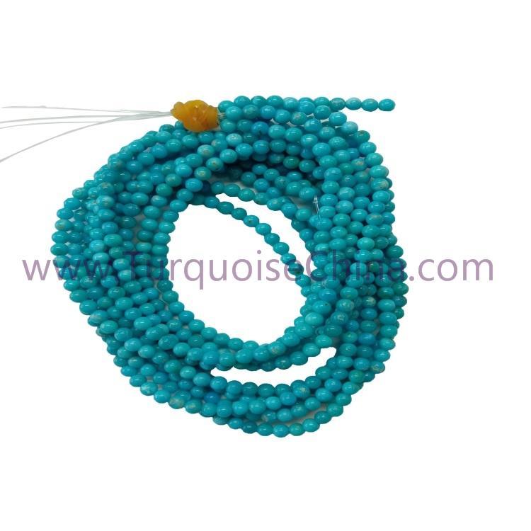 Genuine Turquoise 3mm Round Beads Gemstone Wholesale
