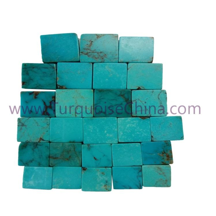 Turquoise Square Brick Material For Making Jewelry