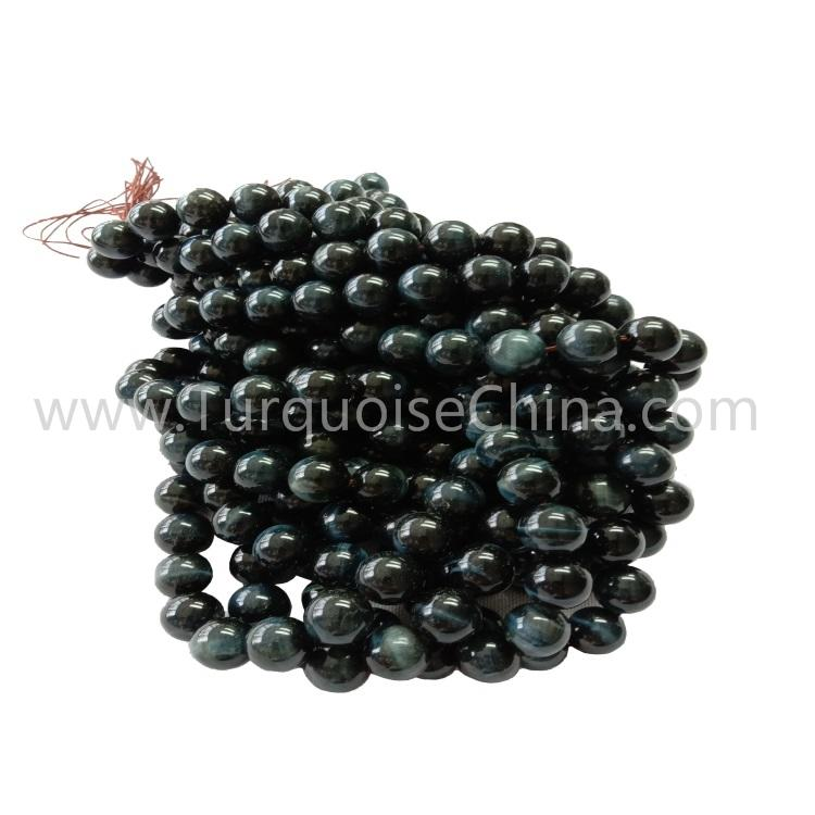 Hot-sale Natural Blue Tiger's Eye Stone Round Beads Wholesale