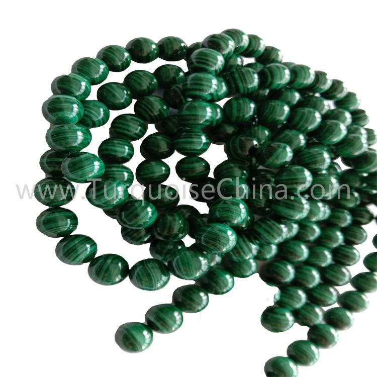 Hot-sale Natural Malachite Round Beads Gemstone Wholesale