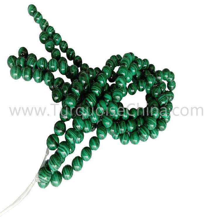 Fashion Gemstone Green Malachite Round Beads Wholesale