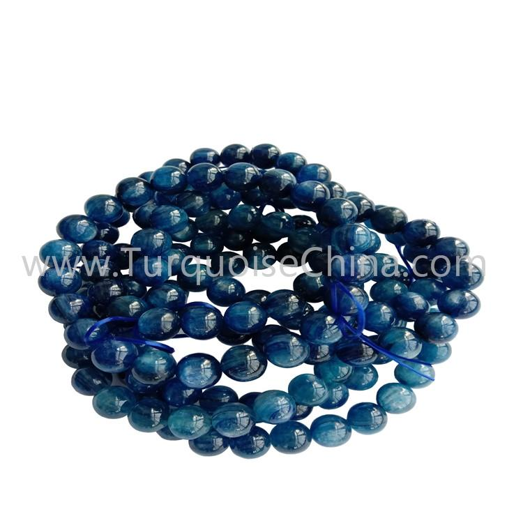8mm Natural Kyanite Round Beads Bracelets Blue Gemstone Wholesale