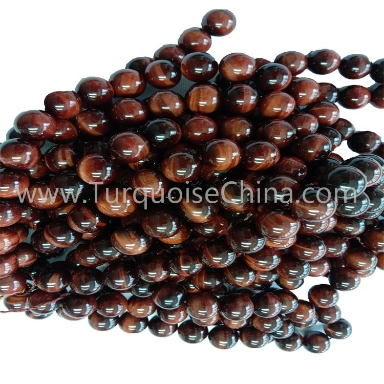 Fashion Gemstone Natural Red Tiger's Eye Stone Round Beads Wholesale