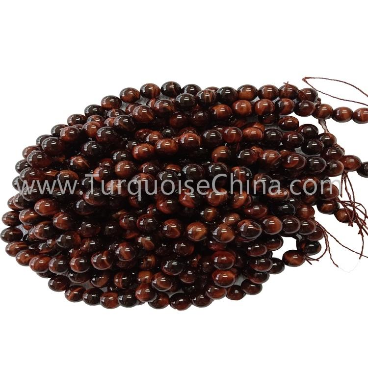 Wholesale Genuine Red Tiger's Eye Stone Round Beads Strings