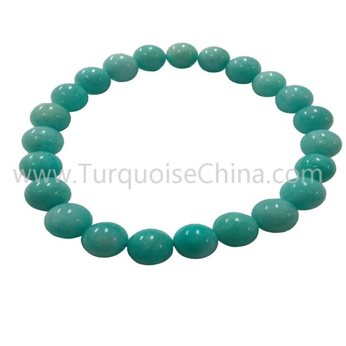 8mm Hot-sale Natural Amazonite Round Beads Bracelets For Woman