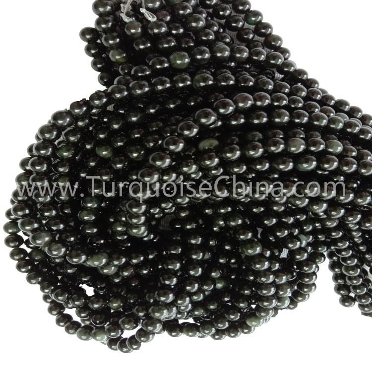 Hot-sale Natural Colorful Obsidian Round Beads Wholesale For Woman And Man