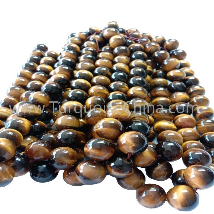 Fashion Handmade Yellow Tiger's Eye Gemstone Round Beads Strings