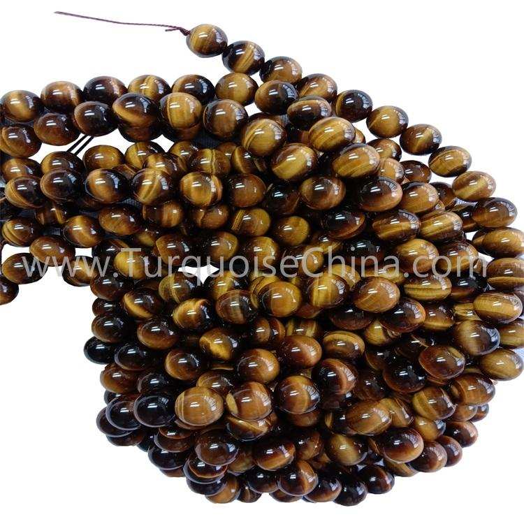 Popular Gemstone Yellow Tiger's Eye Round Beads Wholesale