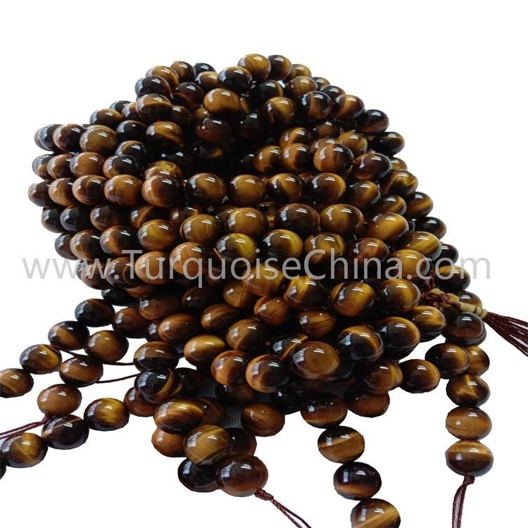Natural Yellow Tiger's Eye Handmade Gemstone Round Bead Strings