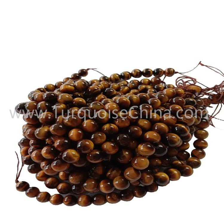 Hot-sale Yellow Tiger's Round Beads For Making Bracelets