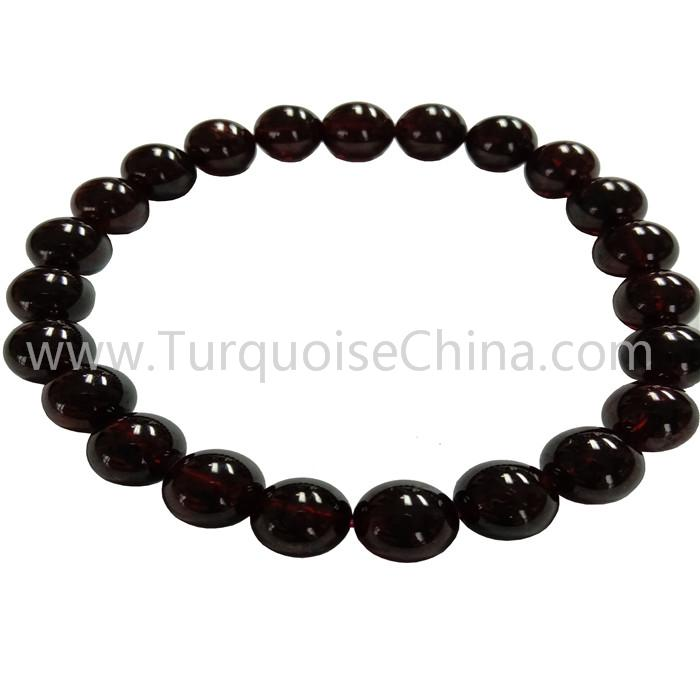 8mm Natural Garnet Popular Round Beads Bracelets Gift For Woman