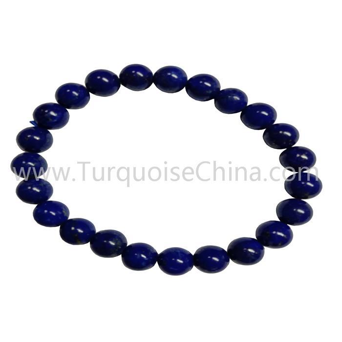 8mm Blue Natural Lapis Round Beads Bracelets Hot-sale Gemstone