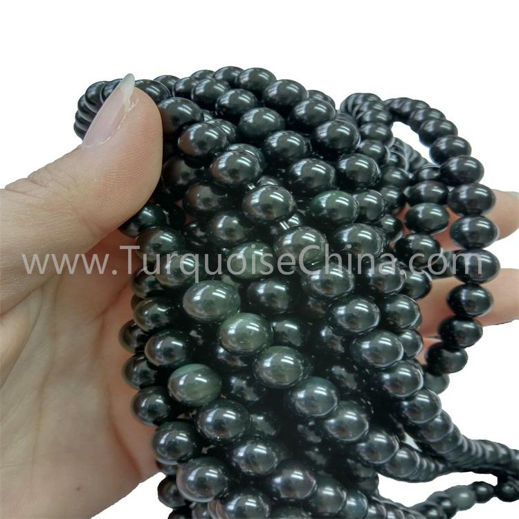Popular Natural Colorful Obsidian Round Beads For Necklace Bracelet