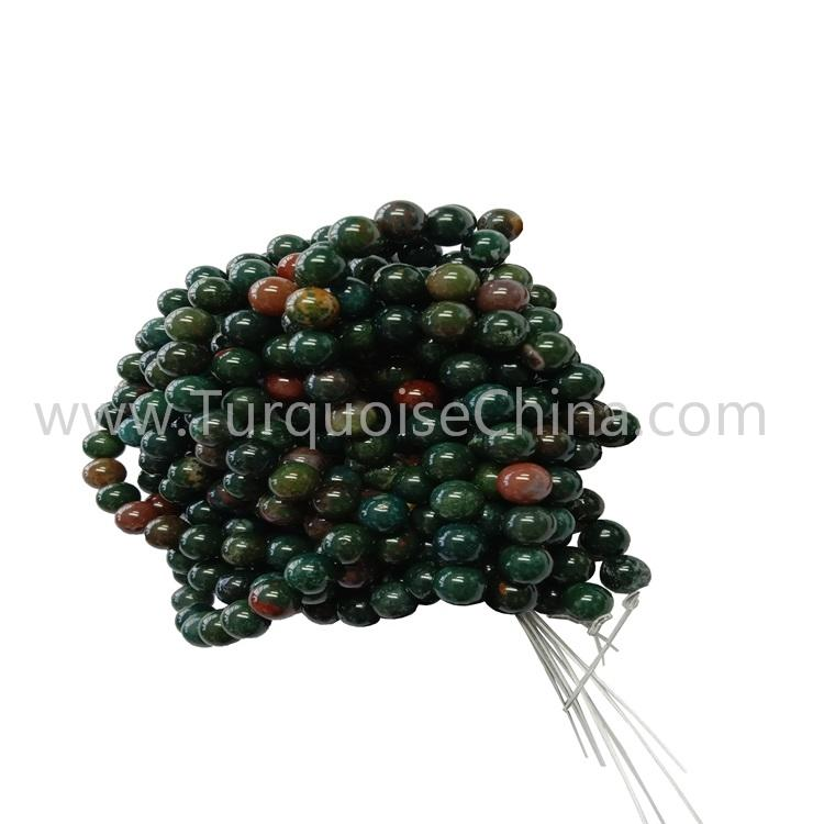 Smooth Colorful Bloodstone Round Beads Gemstone Wholesale