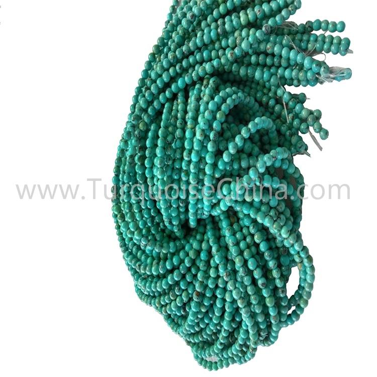 Beautiful Compressed Turquoise Round Beads For Making Jewelry