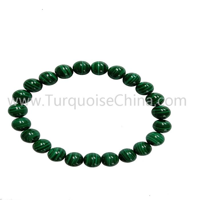 Natural Green Malachite Round Beads Gemstone Bracelets Wholesale