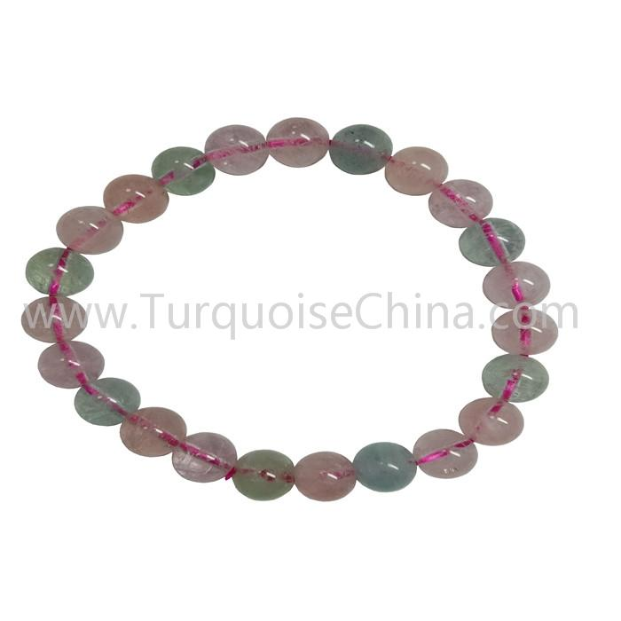 Hot-sale Natural Morganite Round Beads Bracelets Gift