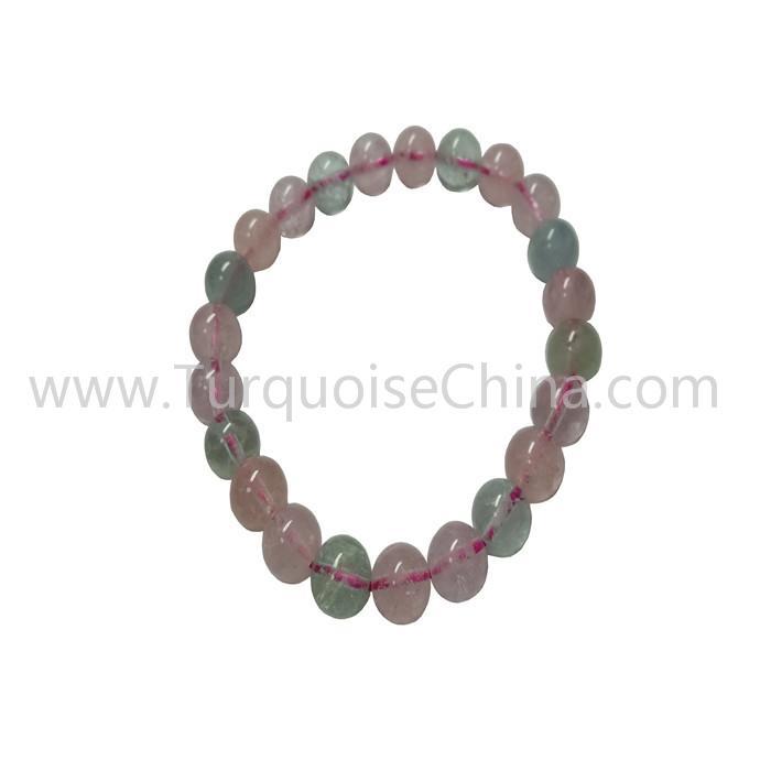 Hot-sale Natural Morganite Round Beads Bracelets Gift