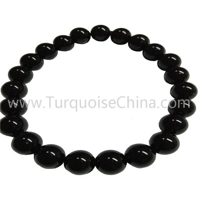 8mm Black Onyx Roudn Beads Bracelet Hot Handmade Gemstone