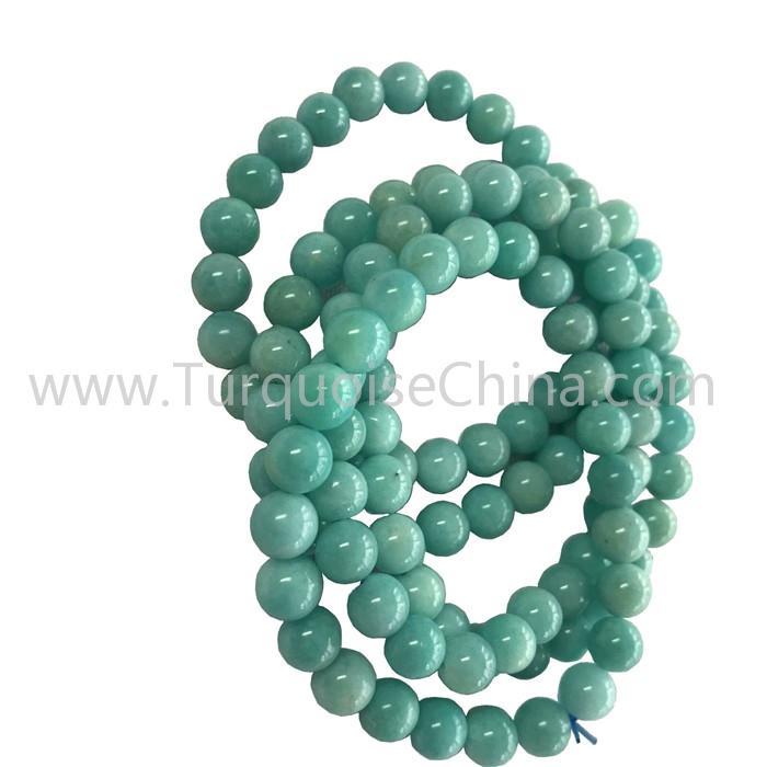 Lovely Amazonite Round Beads Bracelets Hot-sale Gemstone