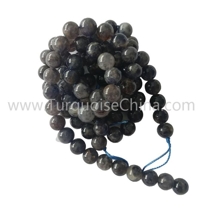 Natural Lolite Round Beads strings Gemstone Gift