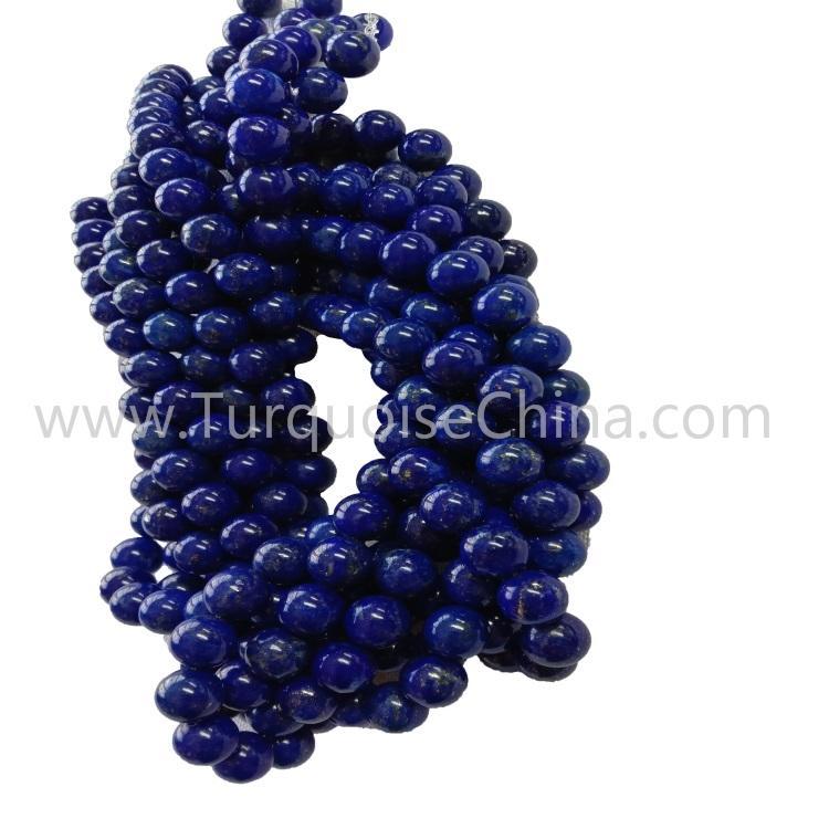 Genuine Lapis Round Beads Gemstone For Making Jewelry