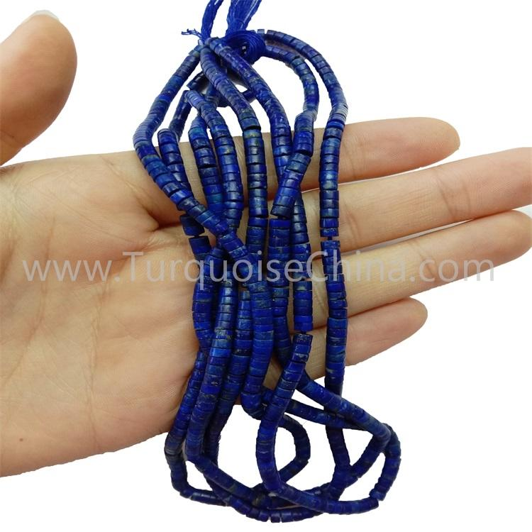 Natural Lapis Heishi Beads Strings Wholesale